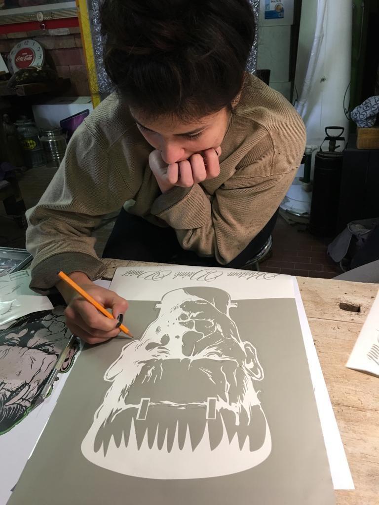 mascheratura per aerografia custom painting