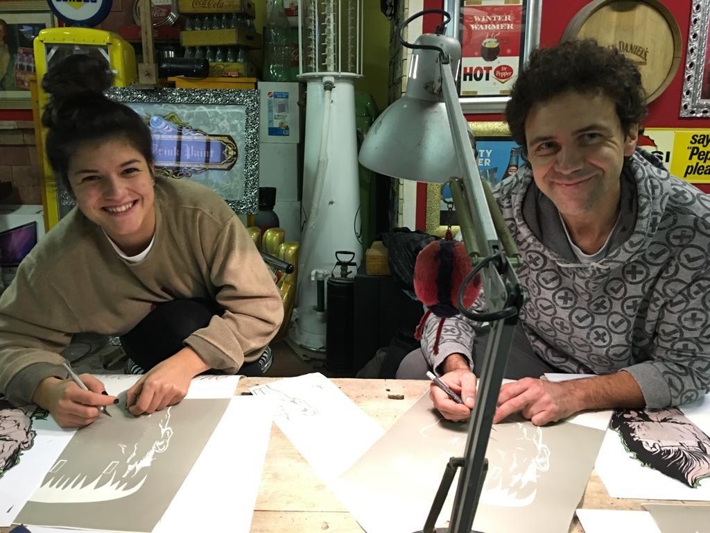 Impariamo l'arte al corso Custom Scuola delle Arti Bologna