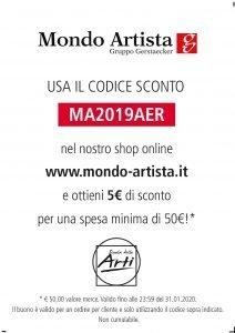 buono sconto Scuola delle Arti e Mondo Artista.it