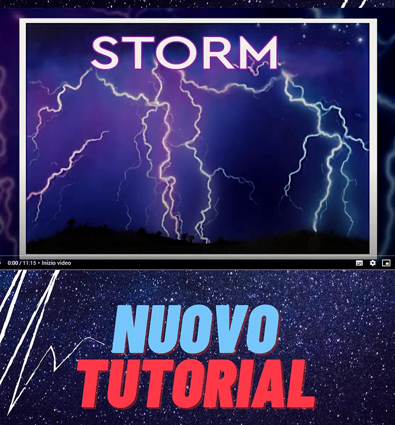 Scuola delle Arti Tutorial, step by step cielo in tempesta con fulmini