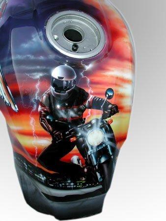 Ducati Motor, airbrush art on serbatoio